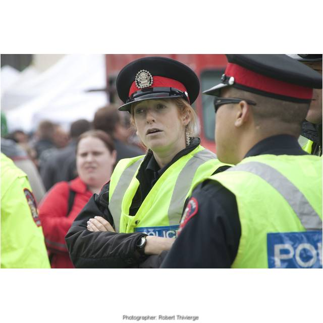 Police watching Lilac Festival