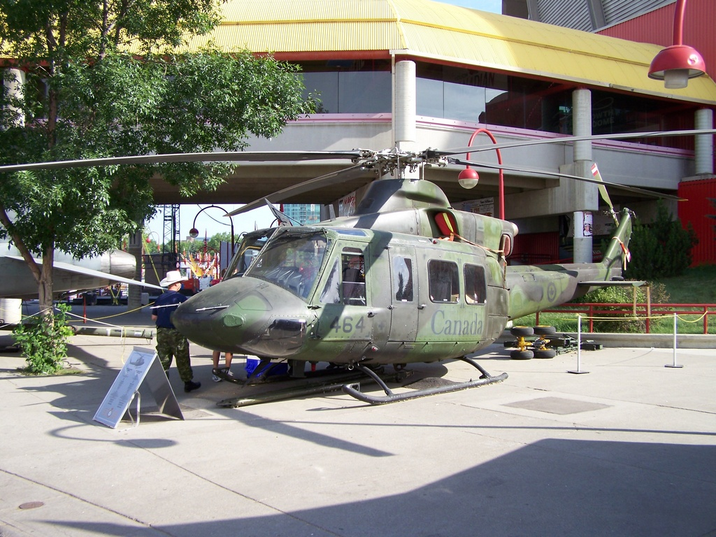 Helicopter at Stampede Grounds 1