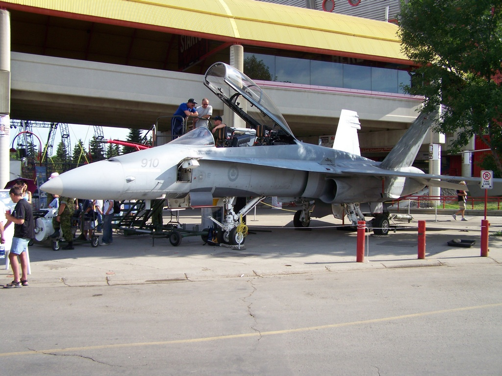 Plane at Stampede Grounds 1