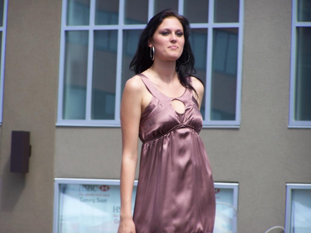 Lauren McKamey walks the runway