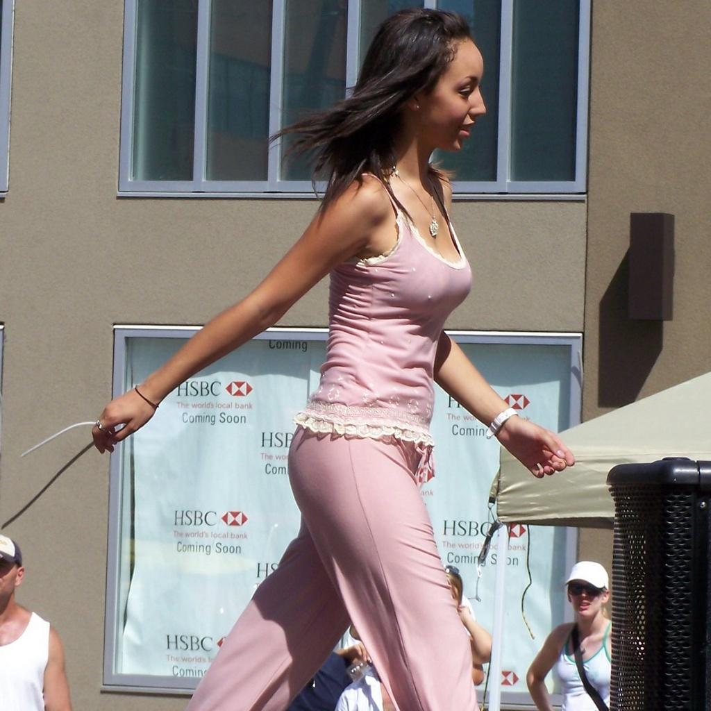 Alexandra Cousins walks back